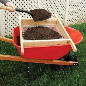 A.M. Leonard Wheelbarrow Sifter for Compost and Soil