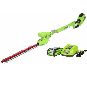 Greenworks 20-Inch 40V Cordless Pole Hedge Trimmer, 2.0 AH Battery Included 22272