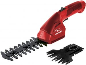 Sun Joe HJ604C-RED 7.2V Cordless 2-in-1 Grass Shear, Hedge Trimmer, Red