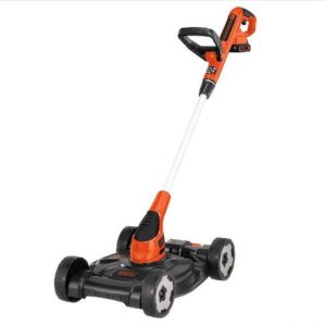 Black Decker 3-in-1 Lawn Mower, String Trimmer And Edger, 12-inch (MTC220)
