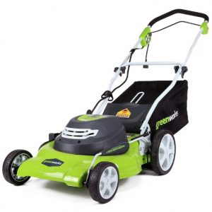 Greenworks 20-inch 12 Amp Corded Electric Lawn Mower 25022