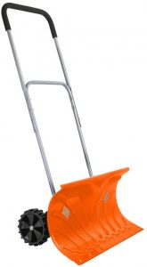 Ivation Heavy Duty Rolling Snow Pusher