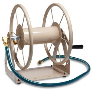 Liberty Garden 703-1 Steel Garden Wall Floor Mount Hose Reel