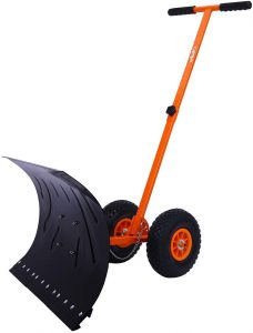 Ohuhu Adjustable Wheeled Snow Shovel Pusher