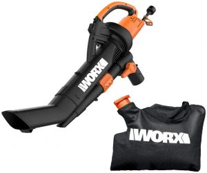 Worx Wg509 Trivac 12 Amp 3-in-1 Electric Blower