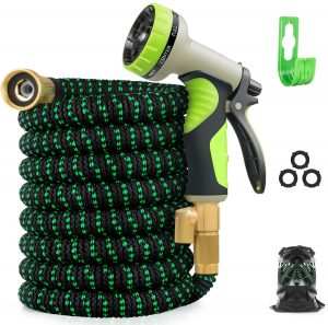 Zalotte Expandable Garden Hose With 9 Function Nozzle