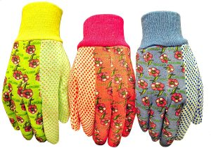 G & F Women Soft Jersey Garden Gloves