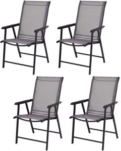 Giantex 4-Pack Patio Folding Chairs