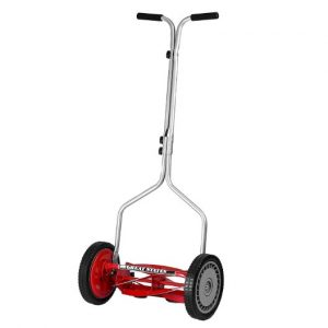 Great States 304-14 14-inch 5-blade Push Reel Lawn Mower, Red
