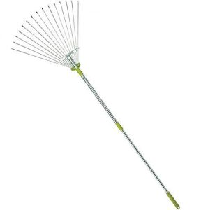 Mltools 64-inch Adjustable Garden Leaf Rake