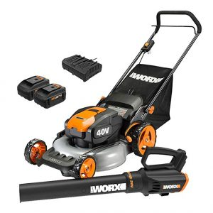 Worx WG960 WG751 WG547.9 Power-Share Cordless Turbine-Blower and Lawn Mower