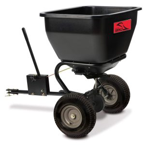 Brinly BS36BH, 75 Lb, Black Tow-behind Broadcast Spreader