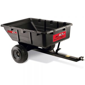 Brinly PCT-10BH 10 Cubic Feet Tow-Behind Poly Utility Cart, 650-Pound