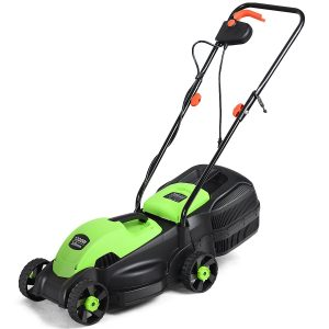 Goplus 14-Inch 12 Amp Lawn Mower with Grass Bag