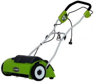 GreenWorks 27022 10 Amp 14 Corded Dethatcher and Scarifier