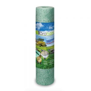 Grotrax Big Roll Year-round Green Grass Seed Mixture Mat Roll, (100 Square Feet)
