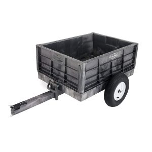 Rubbermaid Commercial FG566261BLA Unassembled Structural Foam Tractor Cart