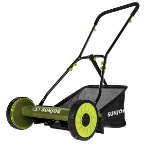 Snow Joe MJ500M 16-Inch Manual Reel Mower with Grass Catcher