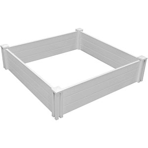 White Vinyl Garden Bed 2-Pack