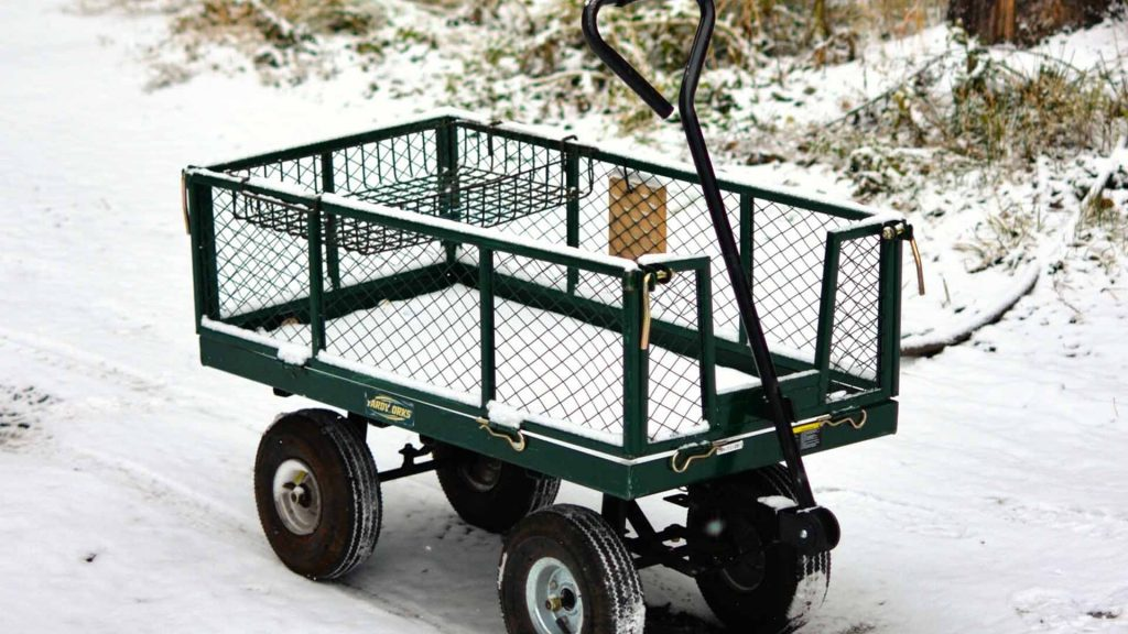 best dump cart for lawn tractor