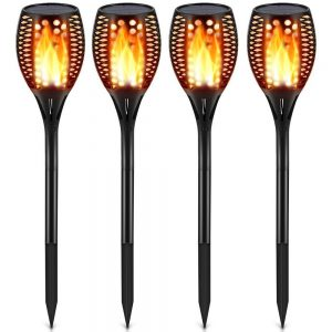 TomCare Flickering Solar Lights