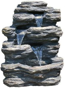 24 Rock Waterfall Garden Fountain